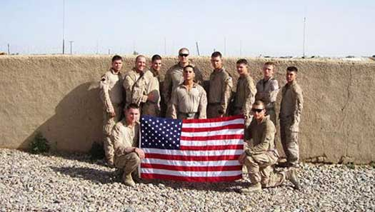 Men and Flag