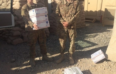 Packages arriving for Troops